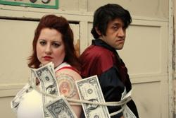 """Lyza Mary (Jen Anderson) and GL (Geb Brown) in """"Riding the Bull"""""""