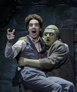 """Dr. Frankenstein and the Monster in """"Young Frankenstein"""""""