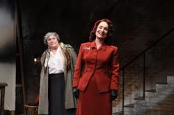 """Anne Scurria and Phyllis Kay in """"Into the Breeches."""""""