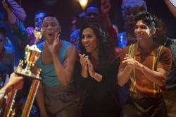 "From left to right: Ryan Jamaal Swain, Mj Rodriguez and Angel Bismark Curiel in ""Pose."""