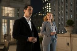 """Jeremy Strong, left, and Sarah Snook, right in a scene from """"Succession."""""""
