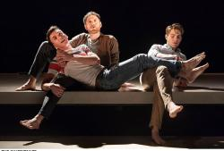 """Samuel H. Levine, Kyle Soller and Andrew Burnap in """"The Inheritance,"""" currently on Broadway"""