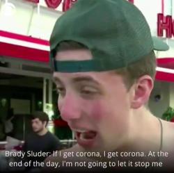 Brady Sluder in his interview with CBS News that went viral