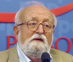 In this Sept. 16, 2013, file photo, Polish composer Krzysztof Penderecki