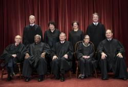The justices of the U.S. Supreme Court.