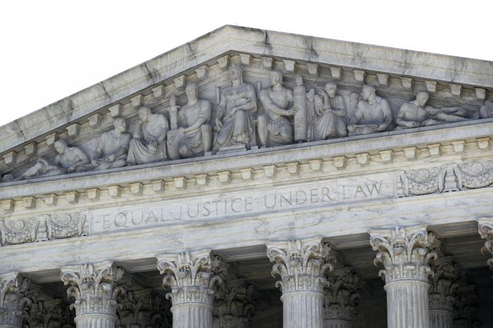 The Supreme Court is seen on Capitol Hill in Washington.