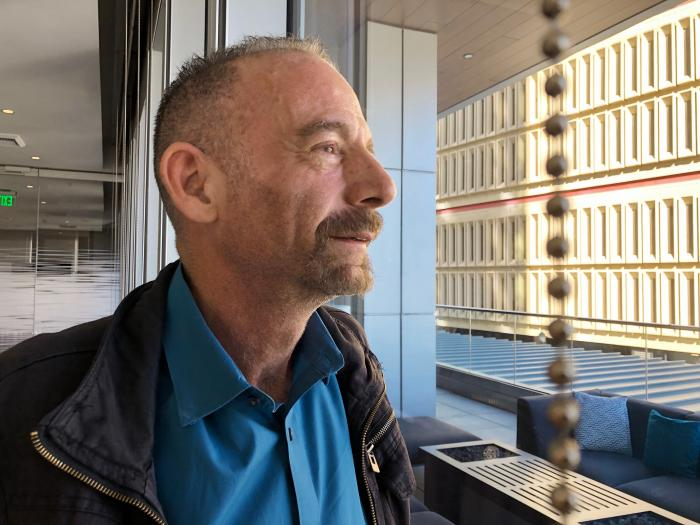Timothy Ray Brown, nicknamed the Berlin patient, posed in Seattle.
