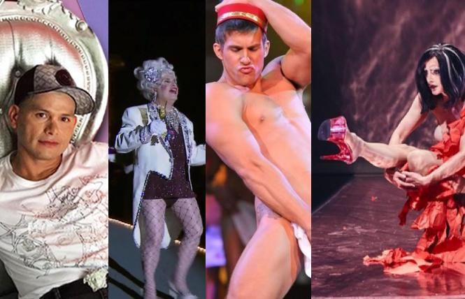 Xavier Toscano, 'Sons of Tennessee Williams,' Charlie Williams in 'Broadway Bares,' and Fauxnique!