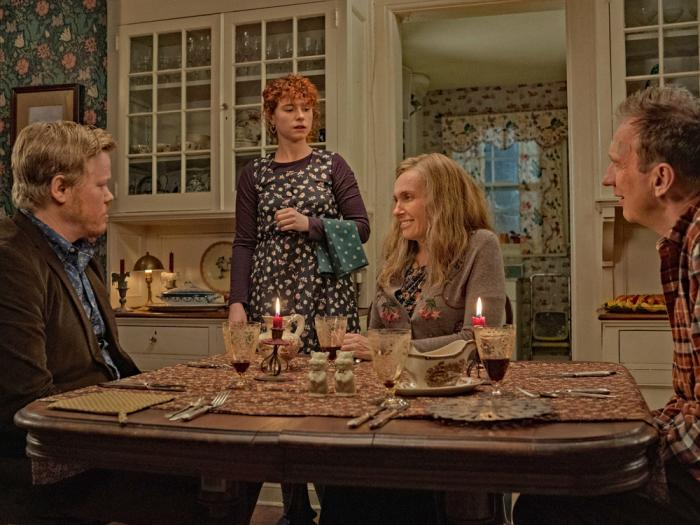 David Thewlis, Toni Collette, Jesse Plemons, and Jessie Buckley in 'I'm Thinking of Ending Things'