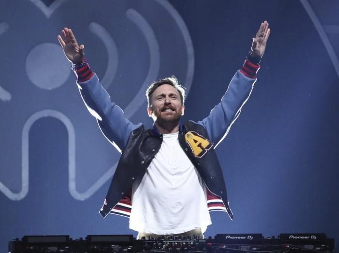 DJ-producer David Guetta performing at the 2017 iHeartRadio Music Festival in Las Vegas.
