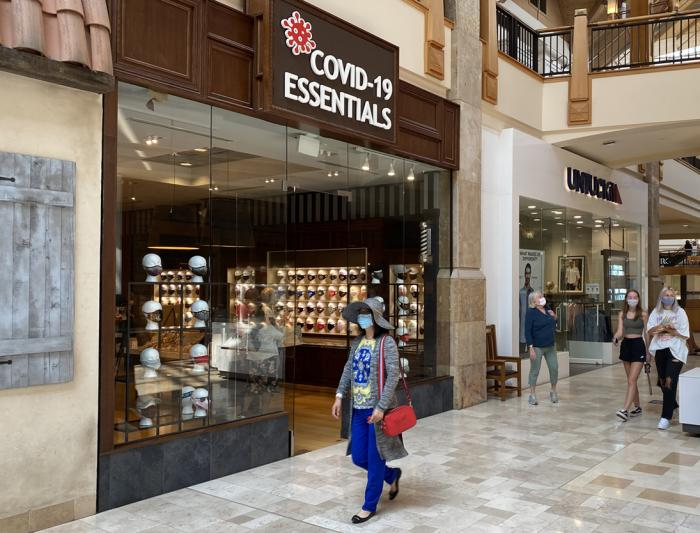 COVID-19 Essentials — with eight locations nationally, including this one in Park Meadows mall, outside Denver — might be the first retail chain dedicated to an infectious disease.