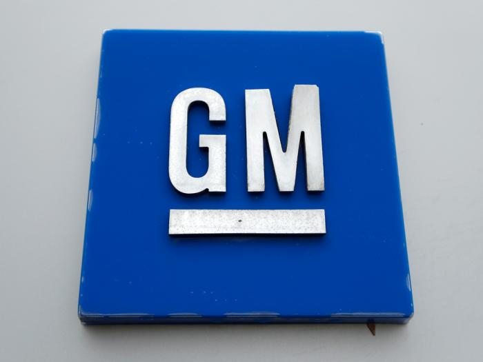 This Jan. 27, 2020 file, photo shows the General Motors logo in Hamtramck, Mich.