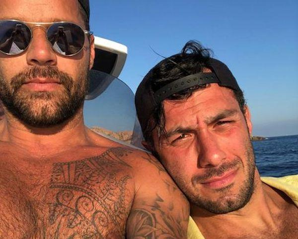 Ricky Martin, left, with husbandJwan Yosef.
