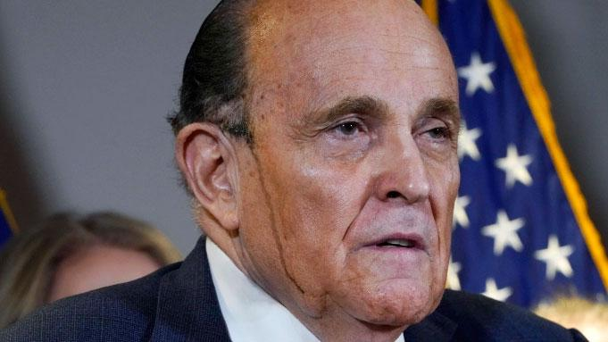 Rudy Giuliani at a press conference in Washington DC on Thursday, November 19, 2020