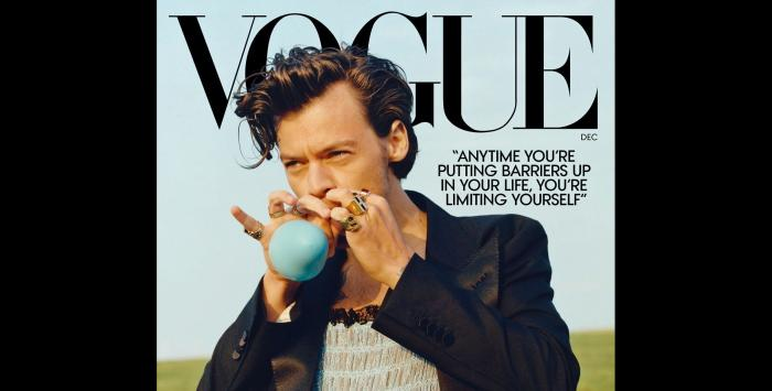 Harry Styles on the cover of December Vogue