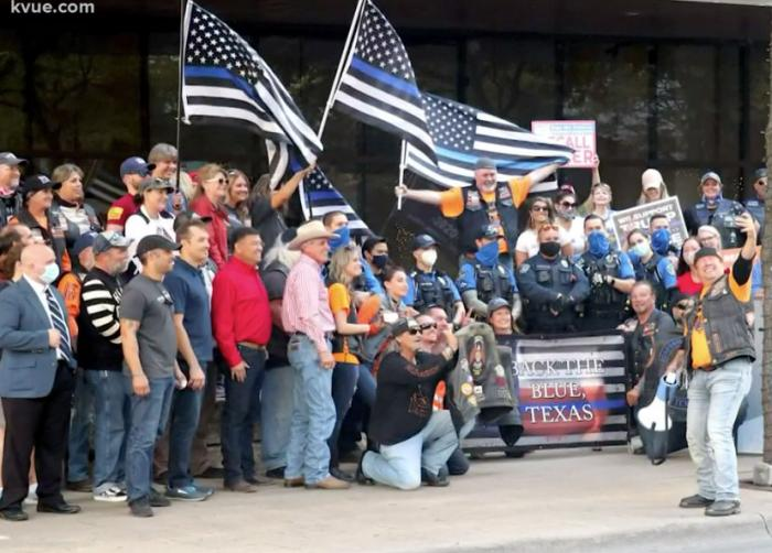 A photo of the May 30 rally in Austin