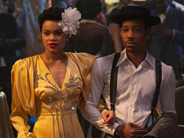 Andra Day and Tyler James Williams in 'The United States vs. Billie Holiday'