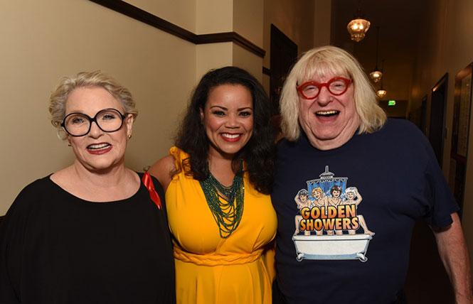 Sharon Gless, Kimberley Locke and Bruce Vilanch at a 2019 REAF benefit
