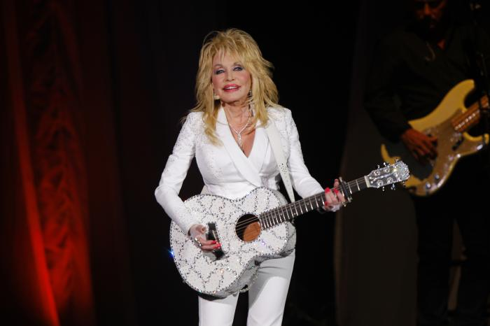 Dolly Parton performs in concert on July 31, 2015, in Nashville, Tenn.