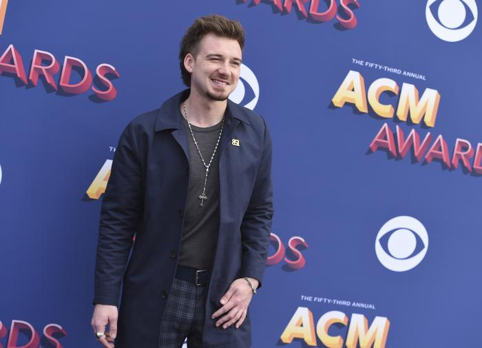 Morgan Wallen arrives at the 53rd annual Academy of Country Music Awards.