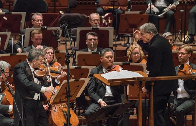 San Francisco Symphony and Michael Tilson Thomas (music director laureate and conductor) at the SFS Media recording at Davies Symphony Hall