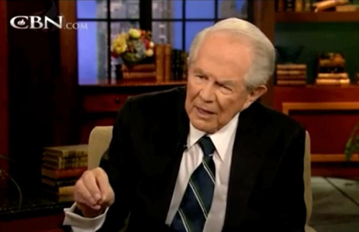 "Pat Robertson on ""The 700 Club"" in 2013"