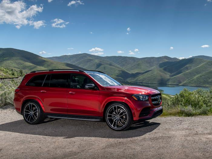 This photo provided by Mercedes-Benz shows the 2020 Mercedes-Benz GLS 580, a three-row luxury SUV that offers an extremely comfortable ride