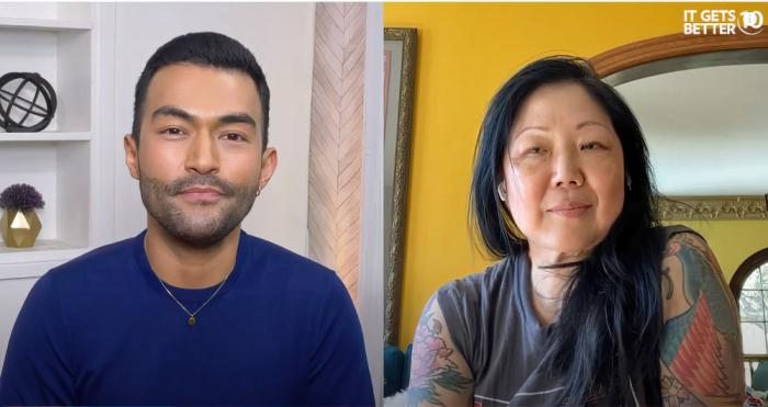 Denny Directo and Margaret Cho