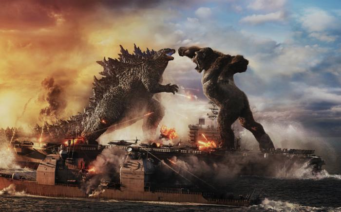 This image released by Warner Bros. Entertainment shows a scene from 'Godzilla vs. Kong'