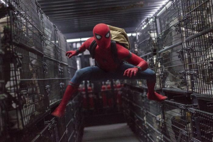 "Tom Holland in a scene from ""Spider-Man: Homecoming."""