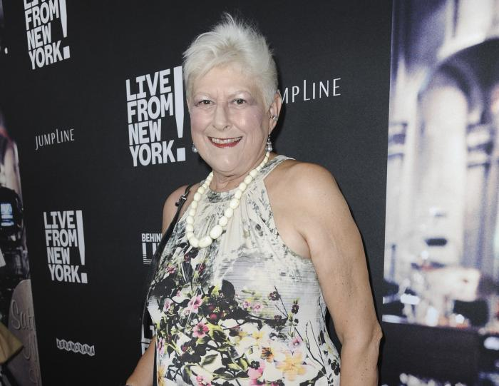 """Anne Beatts arrives at the premiere of """"Live from New York!"""" in Los Angeles on June 10, 2015."""