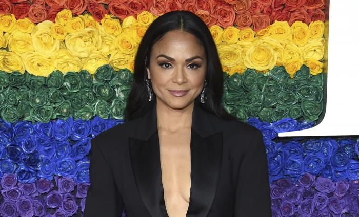 Karen Olivo arrives at the 73rd annual Tony Awards on June 9, 2019, in New York.