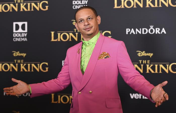 """Eric Andre arrives at the world premiere of """"The Lion King"""" in Los Angeles."""