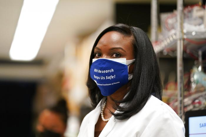 Kizzmekia Corbett, an immunologist with the Vaccine Research Center at the National Institutes of Health (NIH).