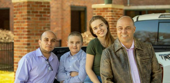 Jeffrey Sossa-Paquette with his children, Ashley and Rylan, and his husband, Julian  (Source:https://jeffrey4congress.com/)