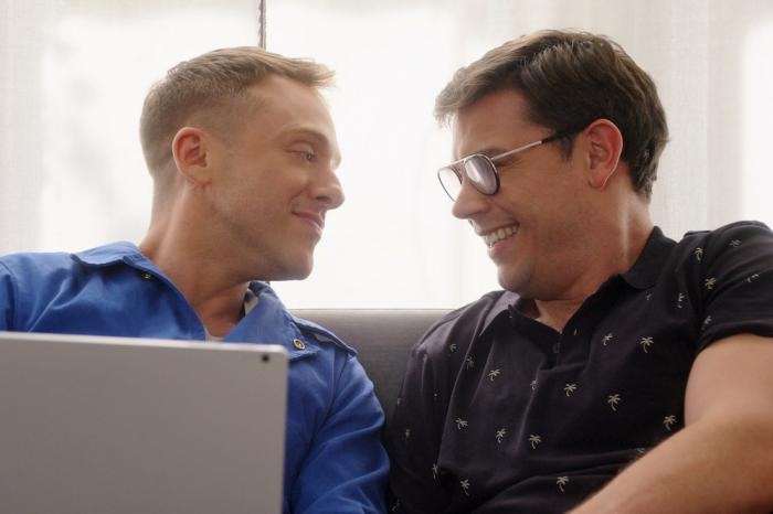 Max Jenkins, left, and Ryan O'Connell in a scene from Netflix's 'Special.'