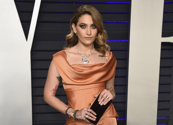 Paris Jackson appears at the Vanity Fair Oscar Party in Beverly Hills, Calif.