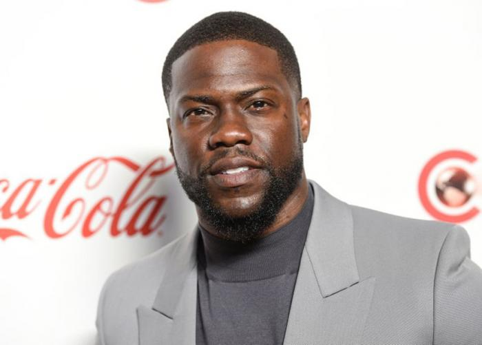 In this April 4, 2019, file photo, Kevin Hart poses for photos at the Big Screen Achievement Awards at Caesars Palace in Las Vegas.