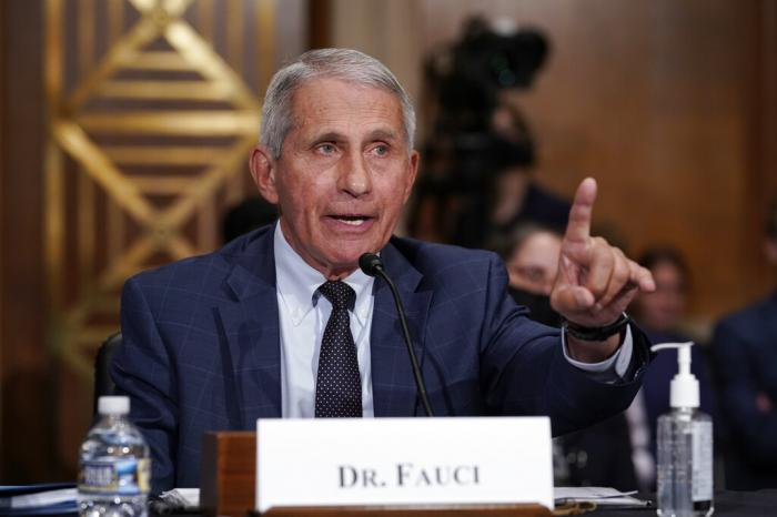 Top infectious disease expert Dr. Anthony Fauci responds to accusations by Sen. Rand Paul, R-Ky., as he testifies before the Senate Health, Education, Labor, and Pensions Committee.