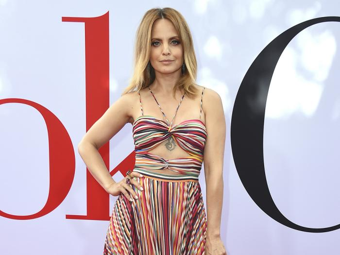 """Cast member Mena Suvari arrives at the Los Angeles premiere of """"Book Club"""" on May 6, 2018"""