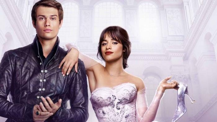 """Nicholas Galitzine and Camila Cabello in a promotional photo for """"Cinderella"""""""