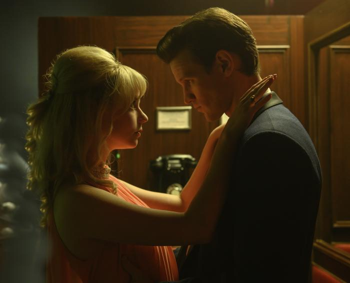 """This image released by Focus Features shows Anya Taylor-Joy, left, and Matt Smith in Edgar Wright's """"Last Night in Soho."""" (Parisa Taghizadeh/Focus Features via AP)"""