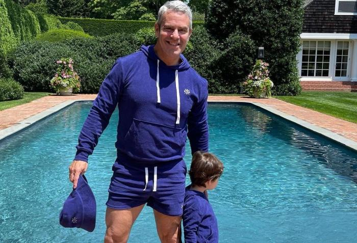 Andy Cohen and his son Benjamin.